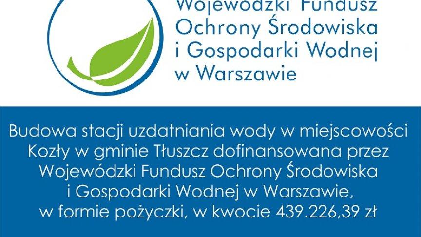 Tablica Budowa SUW w m. Kozły