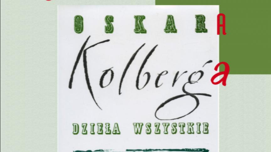 """plakat """"Wielkie czytanie Kolberga"""""""
