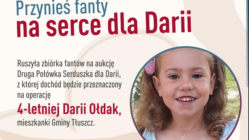 Przynieś fanty na serce dla Darii