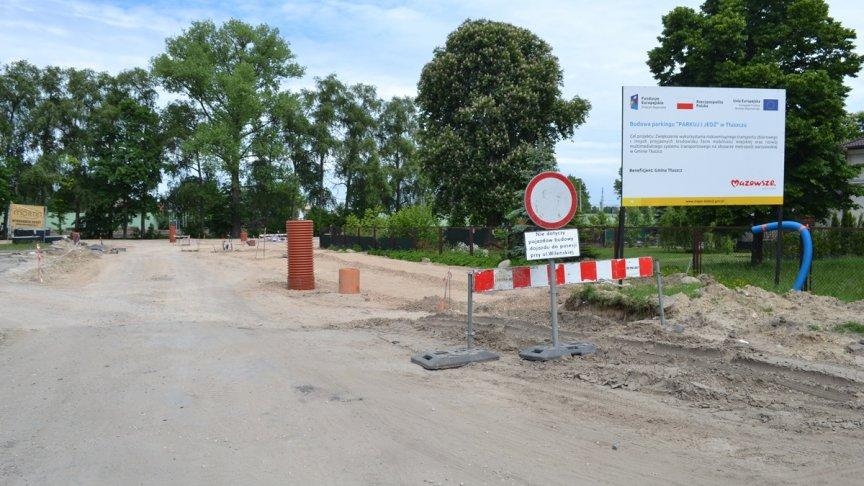 """Postępy prac budowlanych na parkingu """"Parkuj i Jedź"""""""